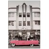 House Additions Pink Cadillac Graphic Art Plaque