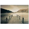 House Additions 'Lake Rotoiti' by Jetty Photographic Print Plaque