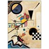 House Additions 'Solidi in Contrasto 1924' by Kandinsky Art Print Plaque