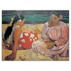 "House Additions Schild ""Tahiti Fammes"" von Gauguin, Kunstdruck"