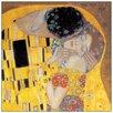 """House Additions Schild """"Il Bacio Detail"""" von Klimt, Kunstdruck"""