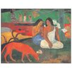 House Additions 'Arearea' by Gauguin Art Print Plaque Plaque