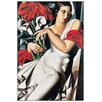 "House Additions Schild ""Portrait De Ira"" von De Lempicka, Kunstdruck"