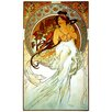 """House Additions """"Music"""" by Mucha Art Print Plaque"""