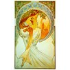 "House Additions ""Poetry"" by Mucha Art Print Plaque"