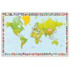 "House Additions Schild ""Map of the World"" von Carta, Grafikdruck"