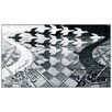 "House Additions ""Day and Night"" by Escher Graphic Art Plaque"
