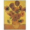 """House Additions Schild """"Sunflowers"""" von Van Gogh, Kunstdruck"""