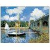 House Additions 'Bridge at Argenteuil' by Monet Art Print Plaque