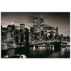 House Additions Brooklyn Bridge (B&W) Photographic Print Plaque