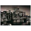 House Additions Schild Brooklyn Bridge (B&W), Fotodruck