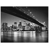 House Additions 'New York - New York Skyline di Manhattan' by Silberman  Photographic Print Plaque
