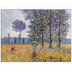 """House Additions Schild """"Felder in Frühling"""" von Monet, Kunstdruck"""