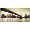 """House Additions Schild """"Brooklyn Bridge View"""" von Daniels, Kunstdruck"""