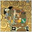 """House Additions Schild """"Abbraccio Detail"""" von Klimt, Kunstdruck"""