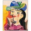 """House Additions Schild """"Woman with a Blue Hat"""" von Picasso, Kunstdruck"""