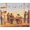 """House Additions Schild """"The Pier"""" von Vettriano, Kunstdruck"""