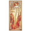 House Additions 'Automne 1900' by Mucha Art Print Plaque