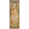 "House Additions Schild ""La Notte"" von Mucha, Grafikdruck"