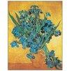 """House Additions Schild """"Gli Iris"""" von Van Gogh, Kunstdruck"""
