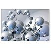 House Additions 'Silver Orbs' by Trevor Scobie Graphic Art Plaque