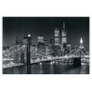 House Additions 'Brooklyn Bridge' by Henri Silberman Photographic Print Plaque
