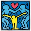 House Additions 'Untitled 1989' by Haring Graphic Art Plaque
