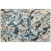 """House Additions Schild """"Silver over Black White Yellow and Red 1948"""" von Pollock, Kunstdruck"""