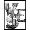 House Additions Gerahmter Grafikdruck Yes: Forrest