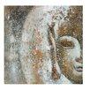 House Additions Buddha Face Art Print on Canvas