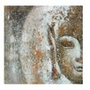 House Additions Leinwandbild Buddha Face, Kunstdruck