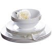 House Additions Bone China 12 Piece Dinnerware Set