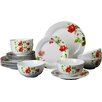 House Additions Porcelain 18 Piece Dinnerware Set