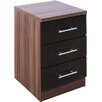 House Additions Modu 3 Drawer Bedside Table