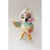 House Additions Owl with Ice Skates Hanging Figurine
