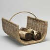 House Additions Wicker/Rattan Basket Log Rack