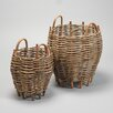 House Additions 2 Piece Round Basket Set
