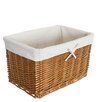 House Additions Stained Storage Basket with Calico Lining (Set of 5)