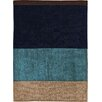 House Additions Calais Handmade Blue Area Rug