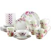 House Additions Violets 24-Piece Dinnerware Set