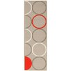 House Additions Dijon Beige/Orange Area Rug