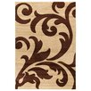 House Additions Anglet Brown/Yellow Area Rug