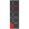House Additions Dijon Grey/Red Area Rug
