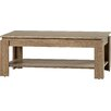 House Additions Cobaw Coffee Table with Magazine Rack