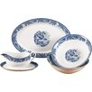 House Additions 5 Piece Porcelain Serving Set in Blue