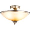 House Additions Sassari 2 Light Semi-Flush Ceiling Light