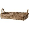 House Additions Rattan Tray Basket in Grey