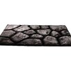 House Additions Handgefertigter Teppich in Schwarz/Silber