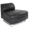 Home & Haus Convex Modular Leather Sectional Sofa Chair