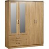 Home & Haus Rossett 4 Door Wardrobe